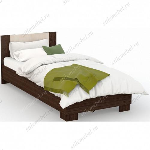 Кровать Аврора 90х200 (основание ЛДСП), Венге/Дуб молочный