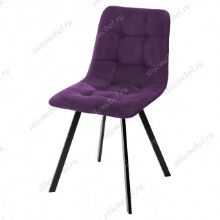 Стул CHILLI-Q SQUARE фиолетовый #H38, велюр / черный каркас