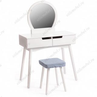 Туалетный столик с пуфом Secret De Maison FABRON (mod. TT-DT033) Белый (White)
