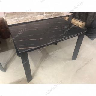 Стол CORNER 120 MATT GOLDEN BLACK SINTERED STONE / BLACK