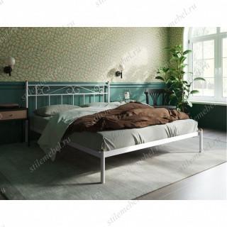 Кровать Франческа без изножья (140х200/ноги металл/цвет Белый)