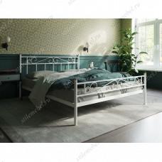 Кровать Франческа c изножьем (140х200/ноги металл/цвет Белый)