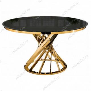 Стол Twist gold/black