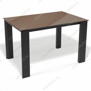 Стол L1250 обеденный, раздвижной капучино/черный