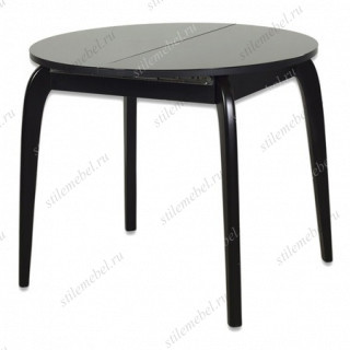 Стол Ривьера круг черный/черный