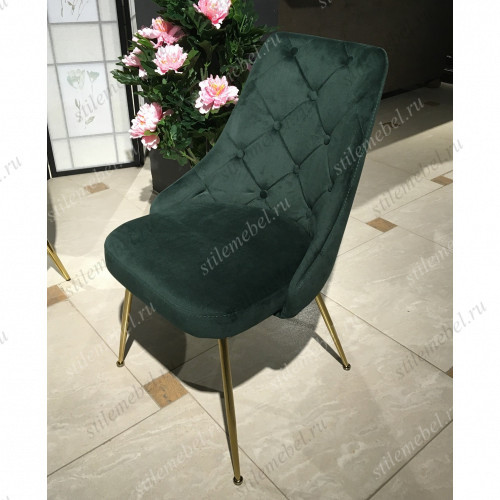 Стул Горацио MK-6947-GN с каретной стяжкой 58х47х84 см Зеленый