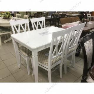 Обеденная группа стол Барсук и 4 стула М18