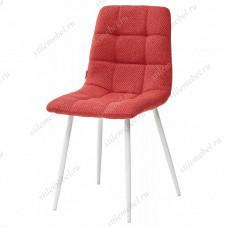 Стул CHILLI TRF-04 красный, ткань / белый каркас