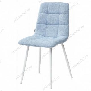 Стул CHILLI TRF-10 небесно-голубой, ткань/ белый каркас