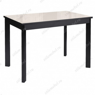 Стол DikLine LS110 стекло крем/черный