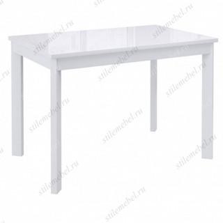 Стол DikLine LS110 белый/стекло белое