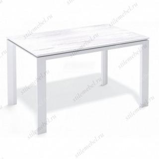 Стол LE1200 обеденный, раздвижной белый/сосна белая