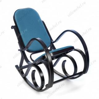 Кресло-качалка mod. AX3002-2 венге #9, ткань голубая 2022-13