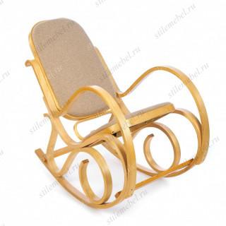 Кресло-качалка mod. AX3002-2 дуб #5, ткань бежевая 1089-4