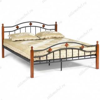 Кровать AT-126 Wood slat base 160х200