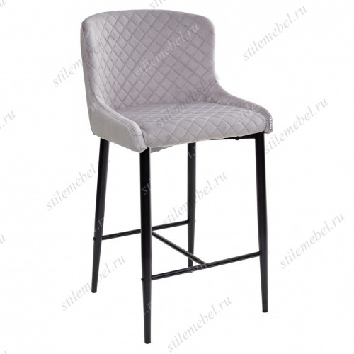 Барный стул ARTEMIS серый, велюр G108-33 (H=65cm)