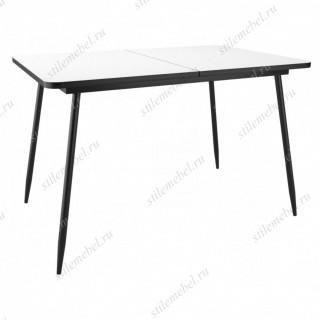 Стол DikLine LS122 стекло белое/черный