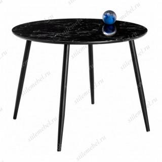 Стол Кловис черный мрамор/черный