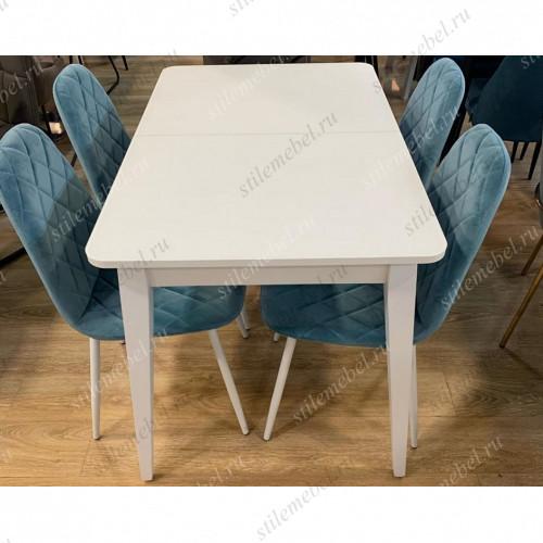 Обеденная группа стол 1100М и 4 стула 152 бирюза