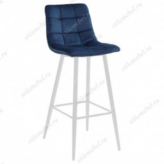 LECCO UF910-18 NAVY BLUE барный стул, велюр/белый каркас