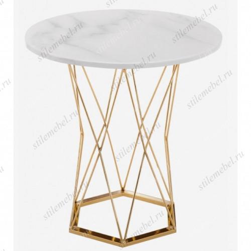 Стол Melan white/gold