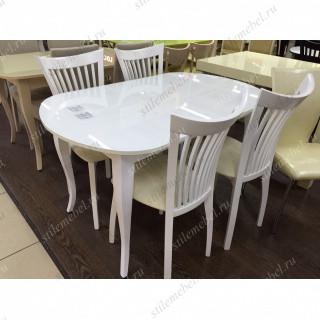 Обеденная группа 1300С + 4 стула 102М белый