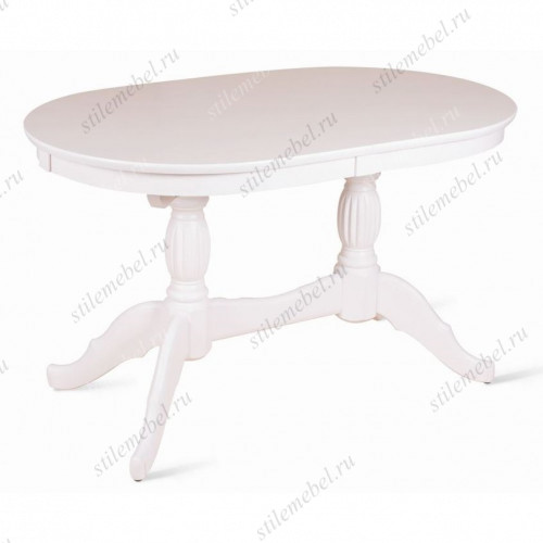 Стол обеденный Лилия-1300 (белая эмаль)