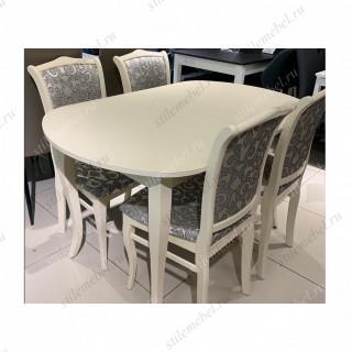 Обеденная группа 1300С крем + 4 стула 111С крем/карамель