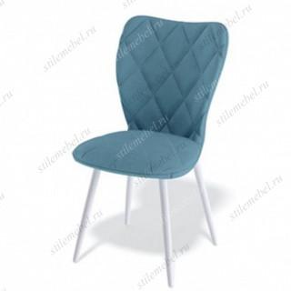 Стул 123S ножки белые/ткань синяя