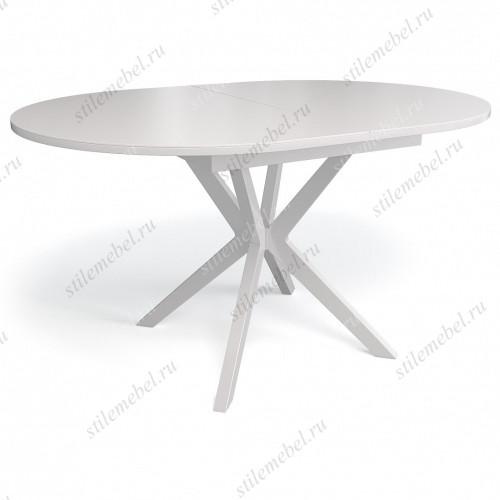 Стол В1300 белый/стекло белое