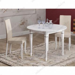 Обеденная группа СА1000 белый + 2 стула 101С белый/бежевый