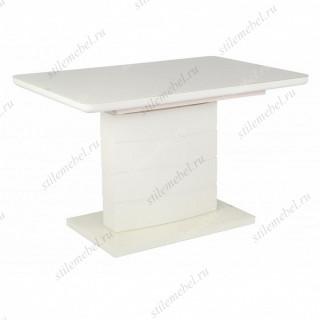Стол ALTA 120 BEIGE / супер бежевое глянцевое стекло