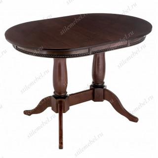 Стол обеденный Кантри 120 орех с коричневой патиной