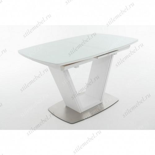Стол Севилья белый/стекло белое