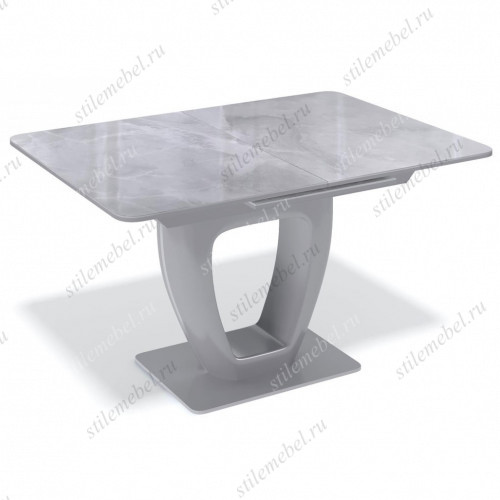 Стол BA1200 серый/стекло камень серый