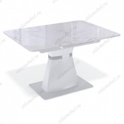 Стол BS1200 белый/стекло камень белый
