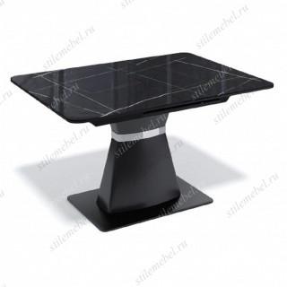 Стол BS1200 черный/стекло камень черный