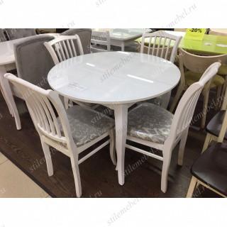 Обеденная группа 1000С белый/103С белый/карамель