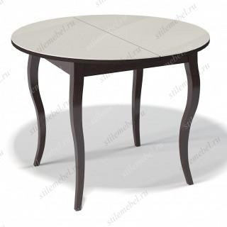 Стол 1000С венге/стекло крем