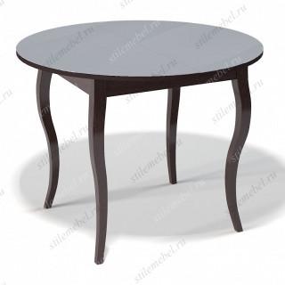 Стол 1000С венге/стекло серое
