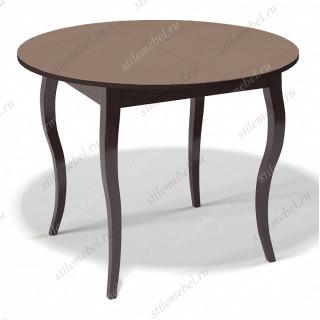 Стол 1000С венге/стекло капучино
