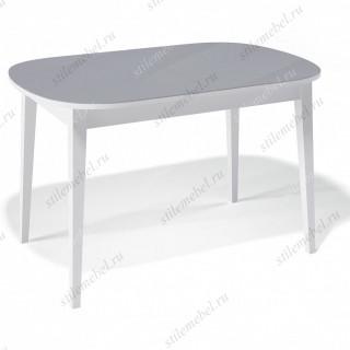 Стол 1300М белый/стекло серое