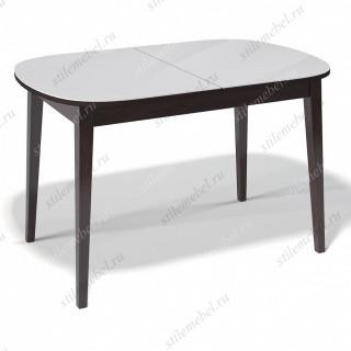 Стол 1300М венге/стекло белое