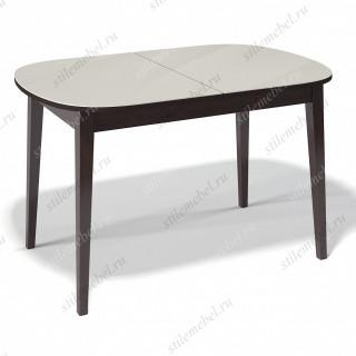 Стол 1300М венге/стекло крем
