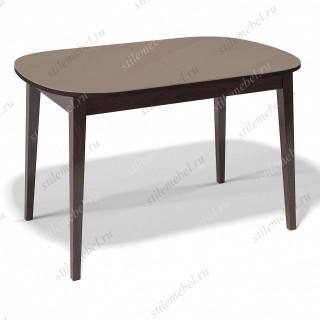 Стол 1300М венге/стекло капучино
