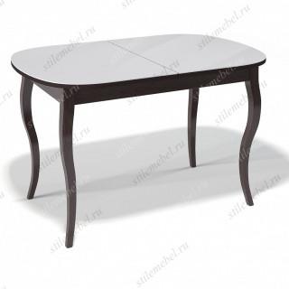 Стол 1300С венге/стекло белое