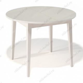 Стол 1000М крем/стекло крем
