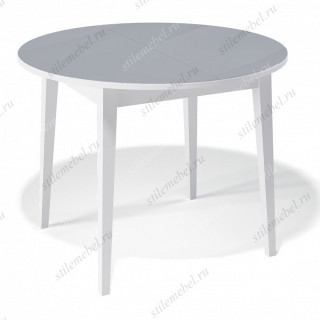 Стол 1000М белый/стекло серое