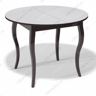 Стол 1000С венге/стекло белое