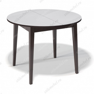 Стол 1000М венге/стекло белое